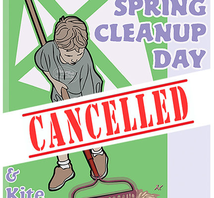 CANCELLED: Spring Cleanup Day & Kite Day Sat May 4, 2019
