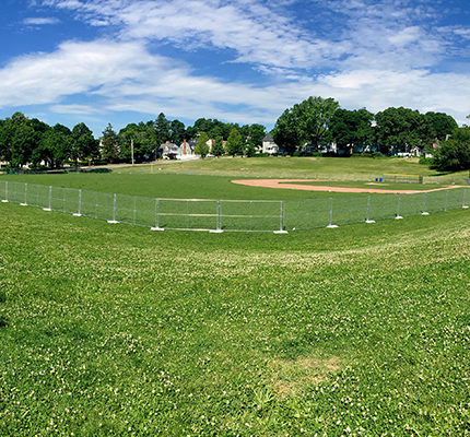 Fence Up at the New Fields (Again) – 4th of July Cancelled